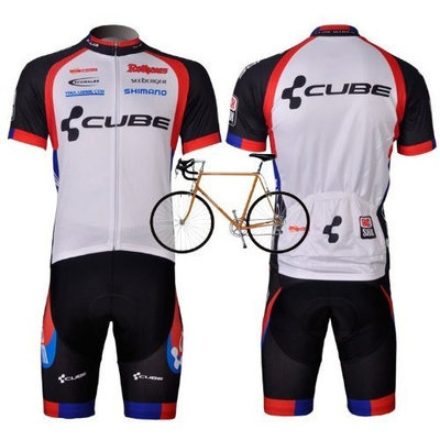 2012 Style CUBE cycling jersey Set short-sleeved jersey /Perspiration breathable