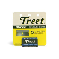 Treet Single Edge Razor Blade Treet Super Single Edge Wrapped Razor Blades 12 Pks of 5 in Each
