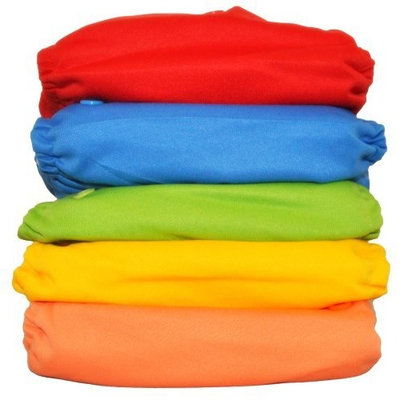 Lalabye Baby 5 Reusable Cloth Diaper Set - Gender Neutral (Gender Neutral)