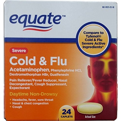 Severe Cold Multi-Symptom Daytime by Equate 24ct Compare to Tylenol Cold Multi-Symptom Severe Daytime