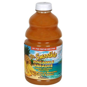 Dr. Smoothie 100% Crushed Fruit Concentrate, Pineapple Paradise, 46-Ounce Bottles (Pack of 2)