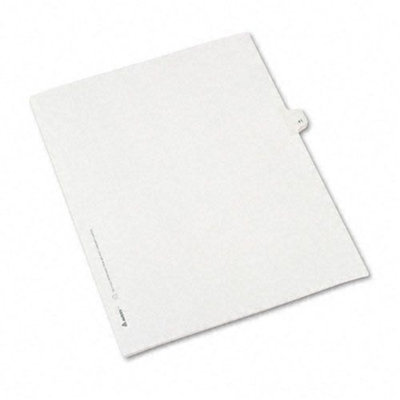 Avery Allstate-Style Legal Side Tab Divider, Title: 41, Letter, White, 25/Pack