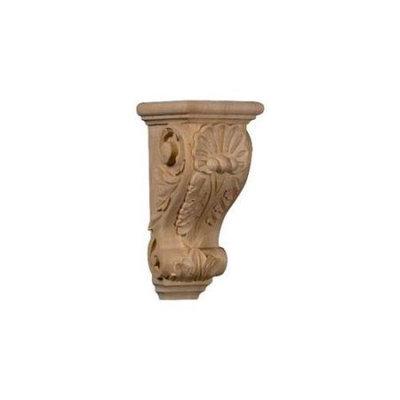 Ekena Millwork 4.5-in x 10-in Maple Shell Wood Corbel