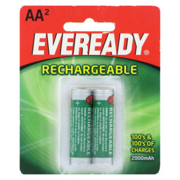 Eveready Rechargeable AA Batteries, 2 ct