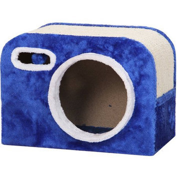 Petpals Group PetPals Flash Camera Shaped Cat Condo with Scratching Pad