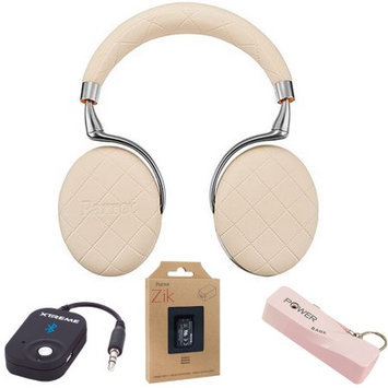 Parrot Zik 3 Wireless Noise Cancelling Bluetooth Headphones Over-stitched Mobile Bundle