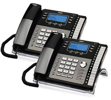 Ge/rca RCA ViSYS 25425RE1 (2-Pack) 4-Line EXP Speakerphone w/ Digital Answering System