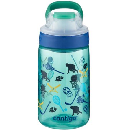 Contigo Gizmo Sip 14 Ounce Kids Water Bottle - Jungle Green All American