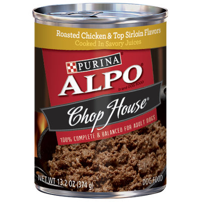 ALPO® CHOP HOUSE® Roasted Chicken & Top Sirloin Flavors Cooked In Savory Juices