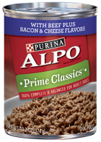 ALPO® PRIME CLASSICS™ With Beef Plus Bacon & Cheese Flavors