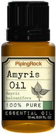 Piping Rock Amyris 100% Pure Essential Oil 1/2 oz Therapeutic Grade