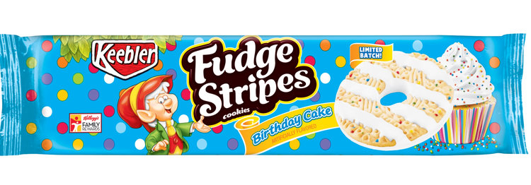Keebler Fudge Stripes Birthday Cake Cookies Reviews 2019