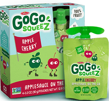 GoGo SqueeZ Apple Cherry Applesauce on the Go