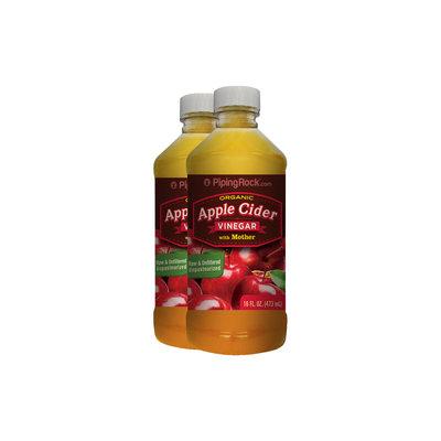Piping Rock Apple Cider Vinegar w/Mother (Organic) 2 Bottles x 16 fl oz (473 mL)