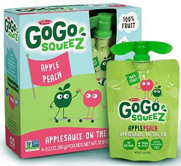 GoGo SqueeZ Apple Peach Applesauce On the Go