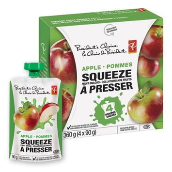 President's Choice Apple Squeeze Fruit Snacks