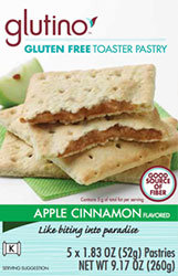Glutino Apple Cinnamon Flavored Gluten Free Toaster Pastries