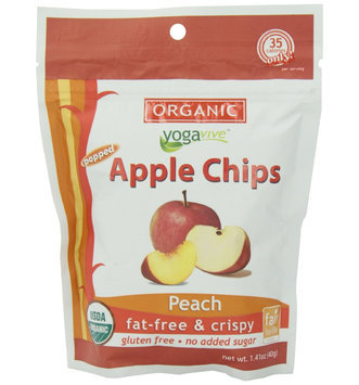 Yogavive - Apple Chips Organic Peach - 1.41 oz.
