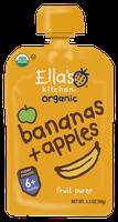 Ella's Kitchen® Organic apples + bananas fruit puree