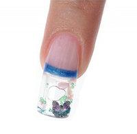 Aquarium Nail Tips Snowglobe Nail Tips Water Bubble Nail Tips 3D Nail Tips 100 pieces