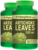 Piping Rock Artichoke Leaves 520 mg 2 Bottles x 90 Capsules Alcachofa