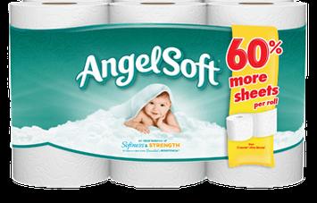 Angel Soft Classic White Bath Tissue