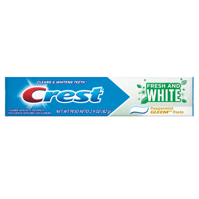 Crest Fresh And White Peppermint Gleem Paste Toothpaste