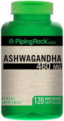 Piping Rock Ashwagandha Root 460mg 120 Capsules (Withania somnifera)