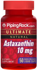 Piping Rock Astaxanthin 10mg 50 Liquid Capsules