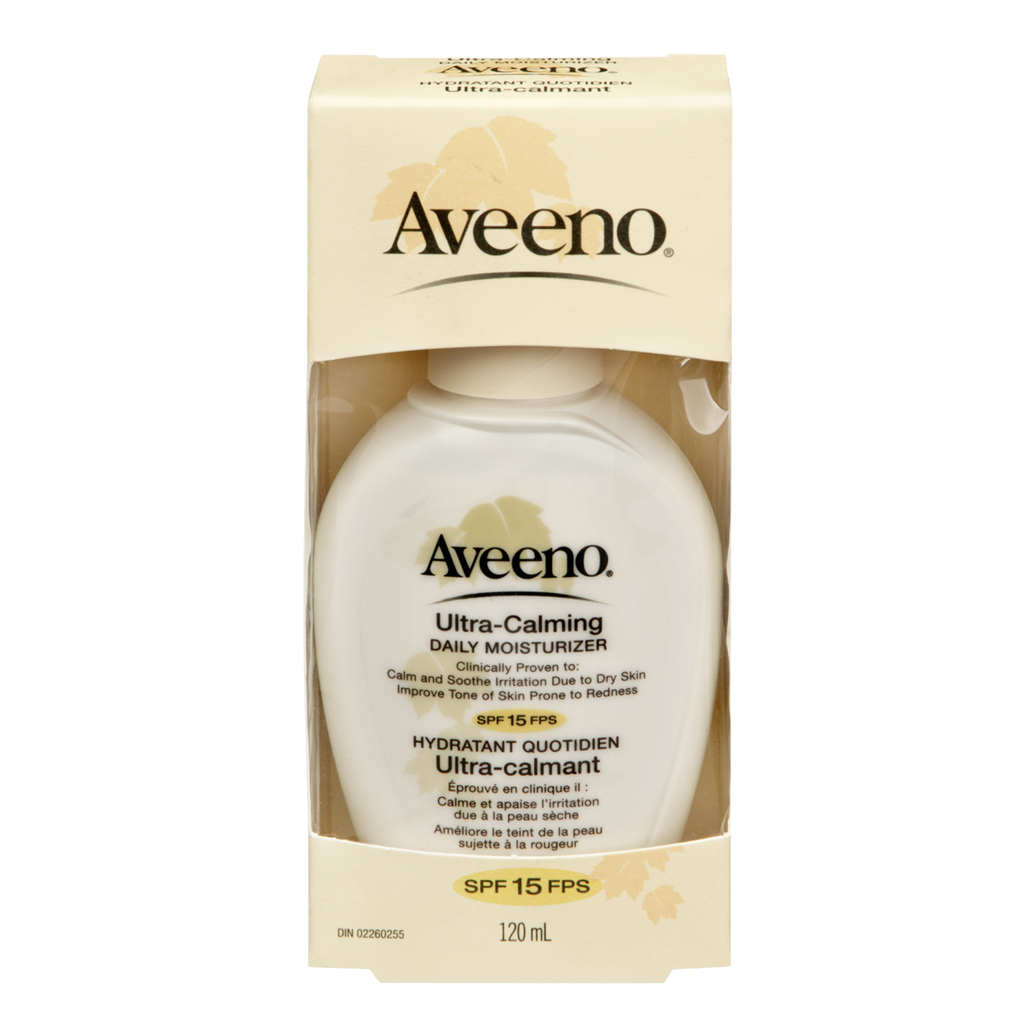 Aveeno Ultra-Calming Daily Moisturizer, with SPF 15, 120 mL