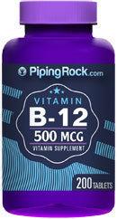 Piping Rock Vitamin B-12 500mcg 200 Tablets