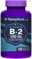 Piping Rock Vitamin B-2 100mg 180 Tablets