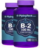 Piping Rock B-2 100 mg (Riboflavin) 2 Bottles x 180 Tablets