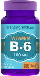 Piping Rock Vitamin B-6 100mg 180 Tablets