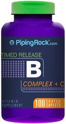Piping Rock B-Complex plus Vitamin C 100 Tablets