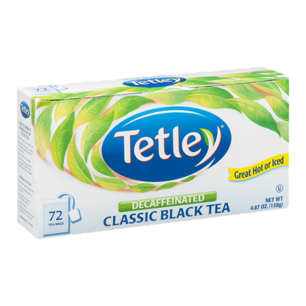 Tetley Decaffeinated Classic Black Tea - 72 CT