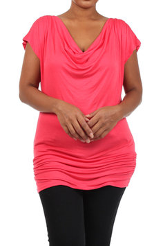 Cam Consumer Products, Inc. Plus Size Cowl Neck Top - Online Exclusive