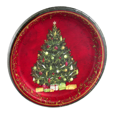Smart Living Holiday Paper Plates Majestic Tree 6 7/8in - 18 CT