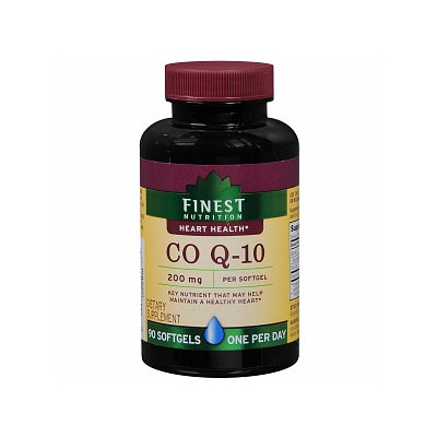 Finest Nutrition CoQ-10 200mg Softgels