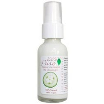 100% Pure Organic Cucumber Eye Cream Gel 1oz