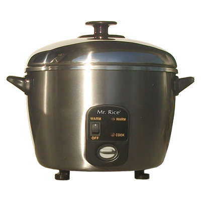 Sunpentown 3-Cup Stainless Steel Rice Cooker / Steamer