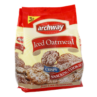 Archway Iced Oatmeal Home Style Crispy Snacking Cookies