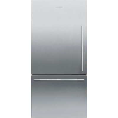 Fisher & Paykel Fisher Paykel RF170WDLX5 17.0 Cu. Ft. Stainless Steel Counter Depth Bottom Freezer Refrigerator - Energy Star - Left Hinge