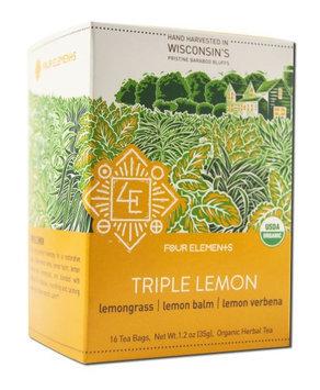 Four Elements Herbals - Organic Herbal Tea Triple Lemon - 16 Tea Bags