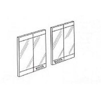 FMI BDB36B 36 Inch Extruded Aluminum Bi-Fold Doors - Brushed Brass