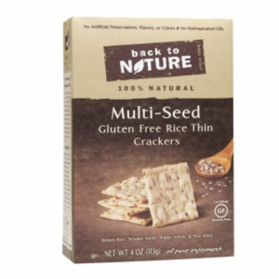 Back to Nature Multiseed Gluten Free Crackers, 4 oz