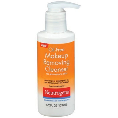 Neutrogena Oil Free Makeup Removing Cleanser for Acne-prone Skin, 5.2-ounce (Pack of 2)