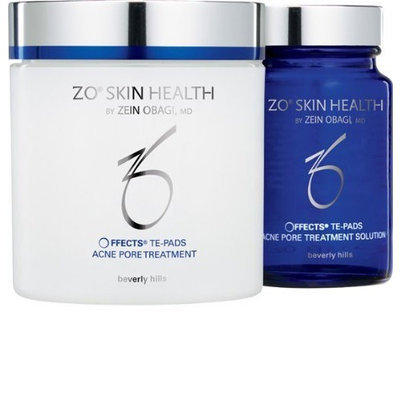 Zo Skin Health Offects TE Pads Acne Pore Treatment System: Treatment Solution 75ml + Pore Treatment 60Pads - 2pcs