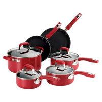 Guy Fieri Nonstick Aluminum 10p Piece Cookware Set Red