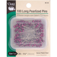 Dritz Corporation Dritz Long Pearlized Pins-Fuchsia Size 24 1-1/2